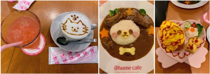 Our drinks and meals at the maid cafe